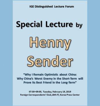 [February 19, 2019] Dr. Henny Sender